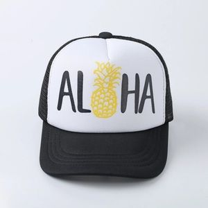 ALOHA Hawaii Pineapple Baseball Cap Trucker Hat